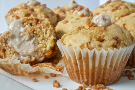 Banana Cream Toffee Muffins | Christina With Caramel