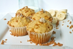 Banana Cream Toffee Muffins