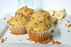 Banana Cream Toffee Muffins