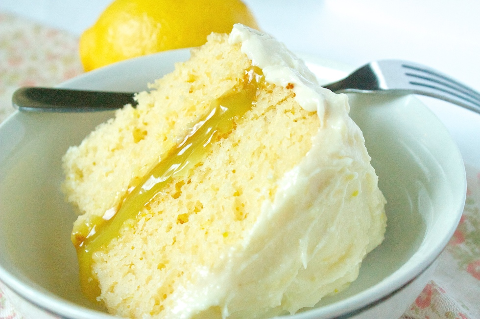 Cake Recipe With Lemon Curd: White Chocolate And Lemon Curd Cake