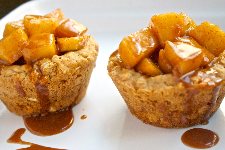 Caramel Apple Oatmeal Cookie Cups | Christina With Caramel