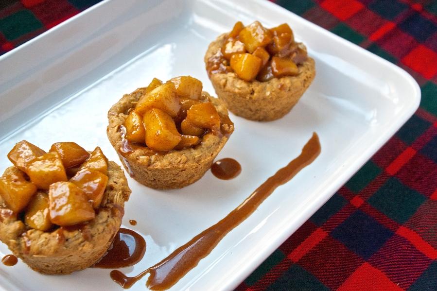 Caramel Apple Oatmeal Cookie Cups   Christina With Caramel