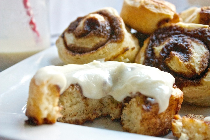 Eggnog Cinnamon Rolls | Christina With Caramel