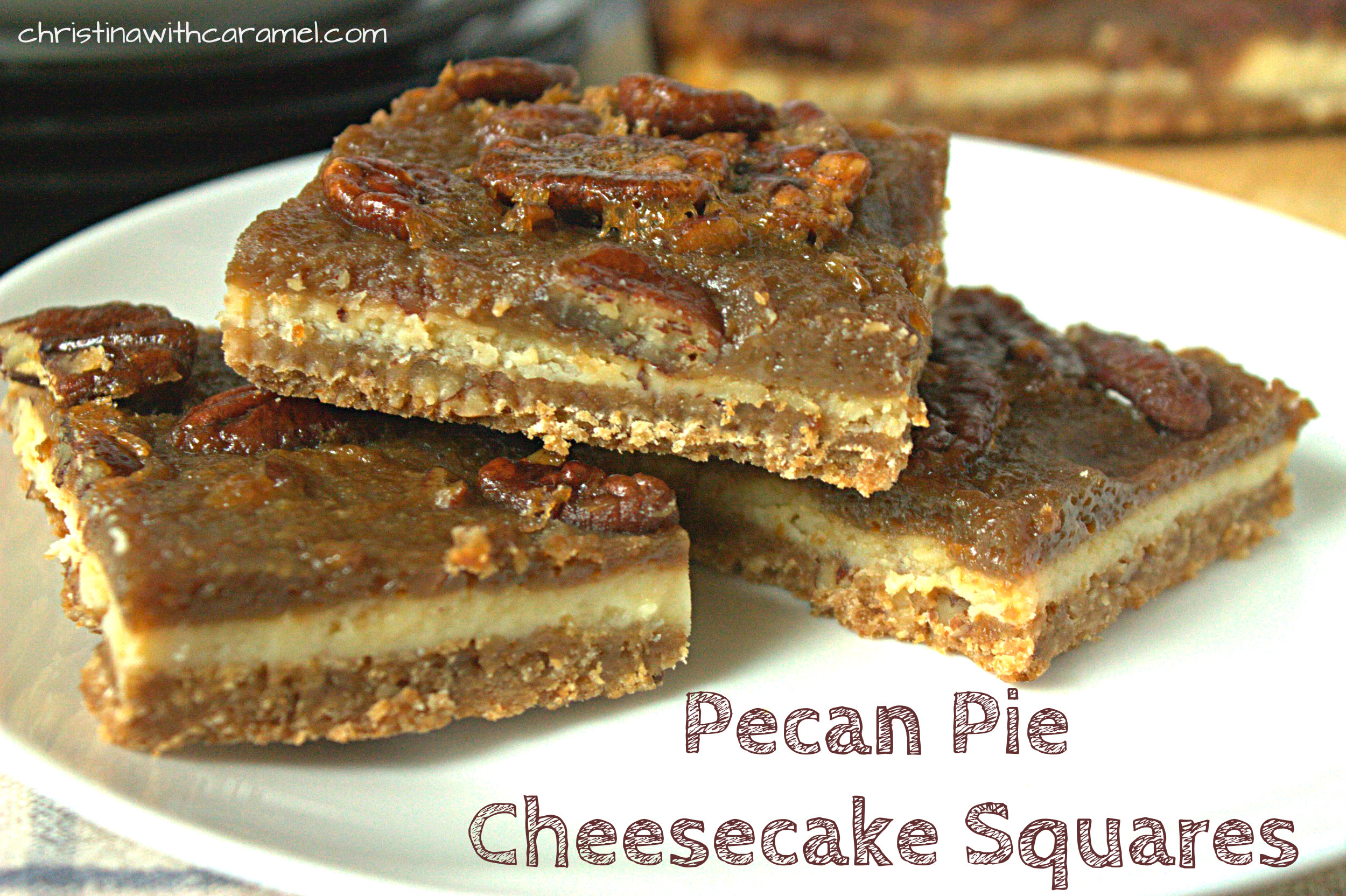 ... cheesecake and sweet pecan pie come together in one amazing cheesecake
