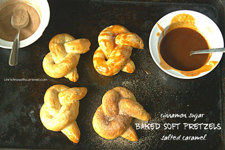 Baked Soft Pretzels| Christina with Caramel