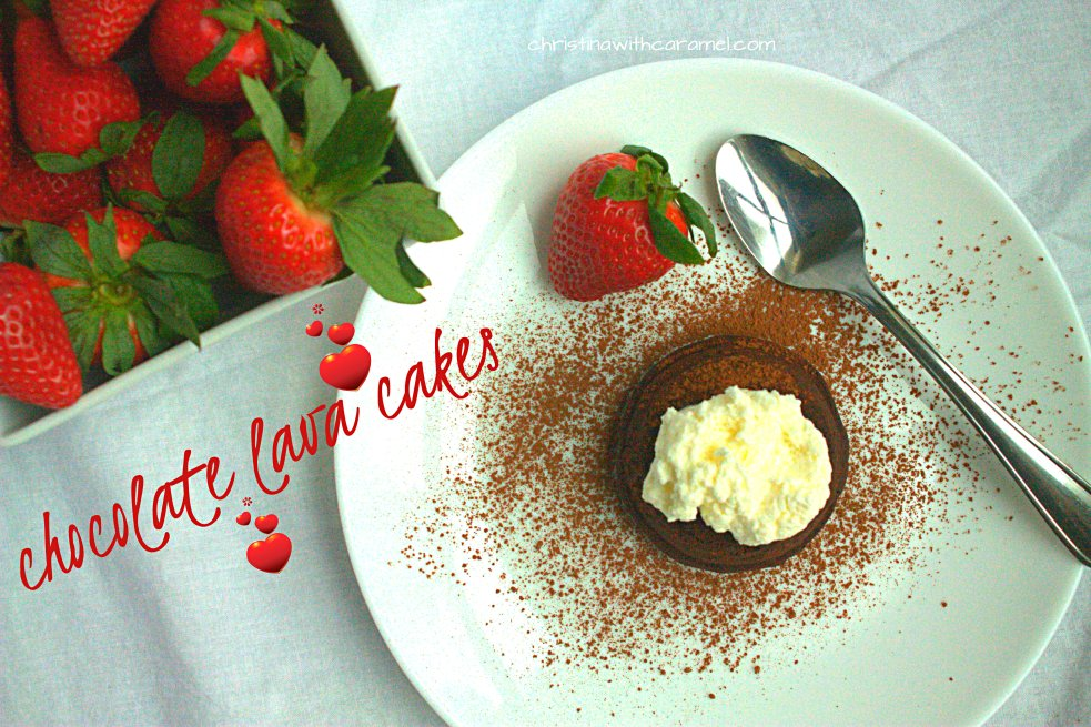 Chocolate Lava Cakes | Christina with Caramel
