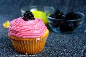 Blackberry Lemon Curd Cupcakes