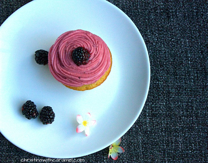 Blackberry Lemon Curd Cupcakes | Christina With Cupcakes