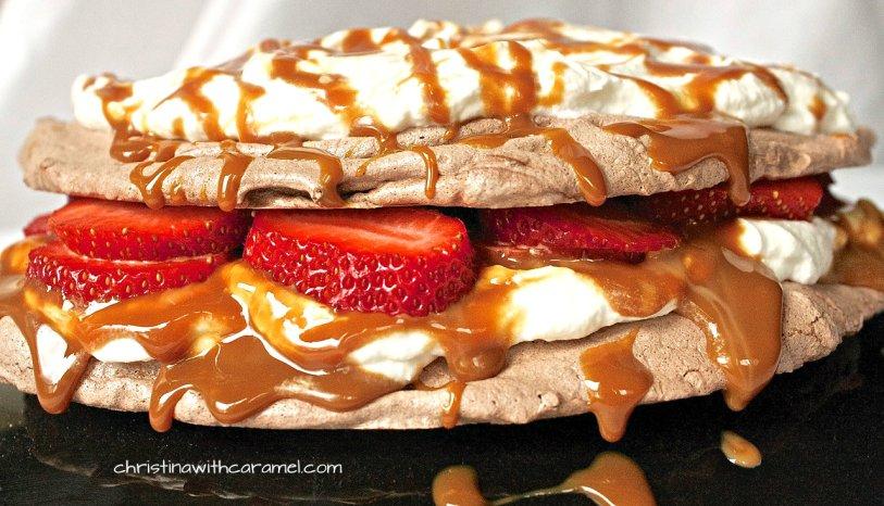 Chocolate and Dulce de Leche Pavlova | Christina With Caramel
