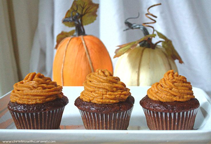 Pumpkin Pie Chocolate Cupcakes